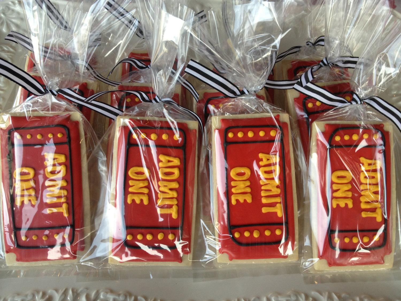 admit one ticket cookies