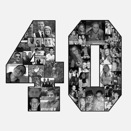 40th birthday photo collage