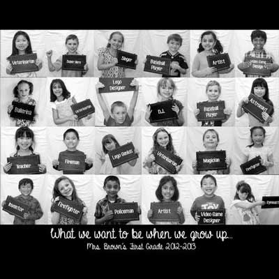 When we grow up...photo collage