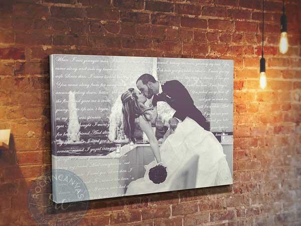 reasons we love you custom photo canvas