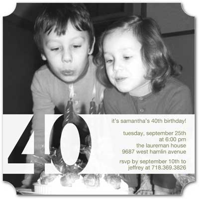 custom photo 40th birthday invitation
