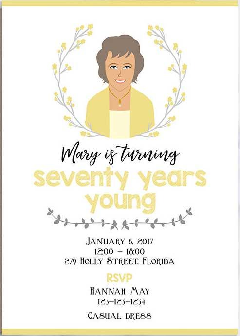 custom portrait invitations
