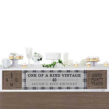 Aged to Perfection 40th birthday banner