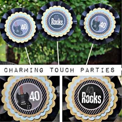 40 Rocks party decorations