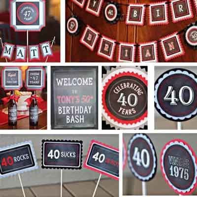 40 Rocks birthday party supplies