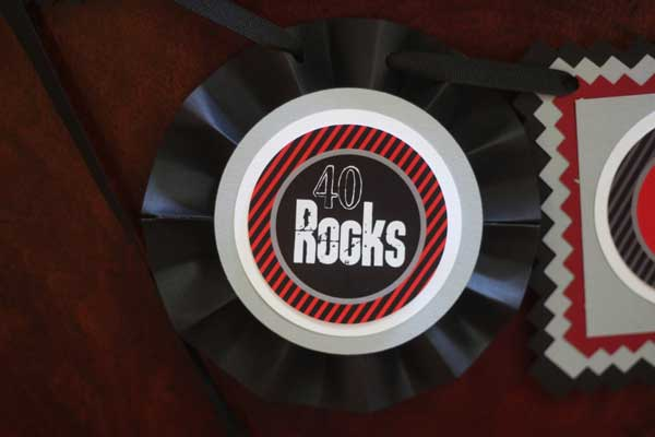 40 Rocks birthday banner