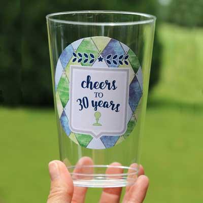 Golf Par-Tee milestone birthday party cups