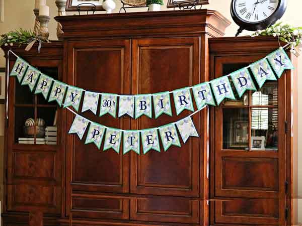 Golf Par-Tee milestone birthday banner