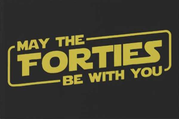 May The Forties Be With You party theme