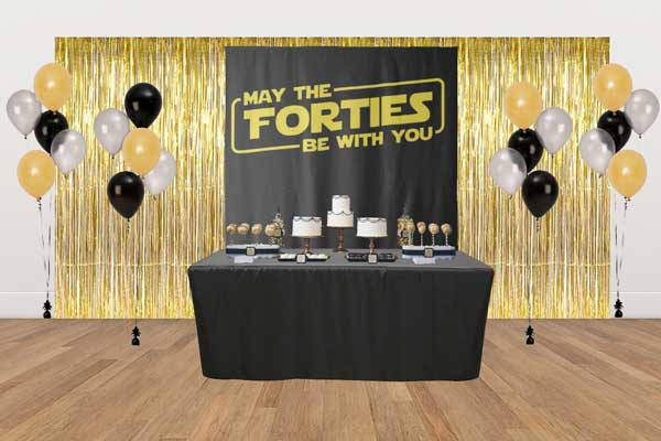May The Forties Be With You dessert table