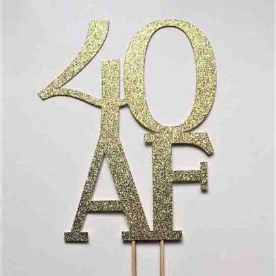 40 AF cake topper