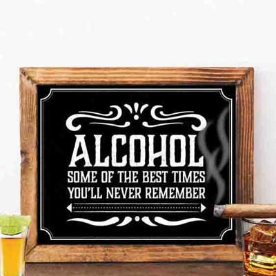 Jack Daniels whiskey party sign