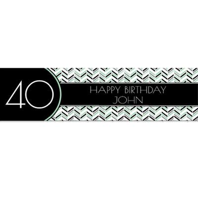 Best Day Ever 40th birthday banner