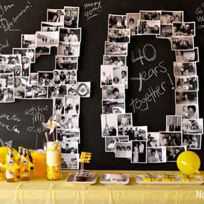 40th birthday photo collage