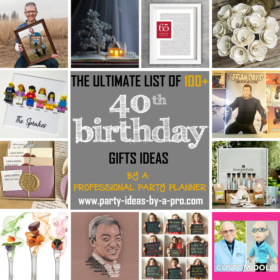 100 40th Birthday Gifts By A Professional Party Planner