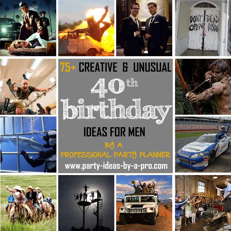 40th Birthday Ideas For Men
