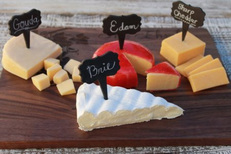 chalkboard cheese labels