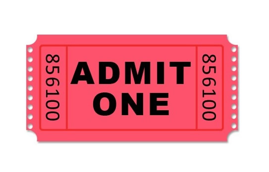 admit one carnival ticket
