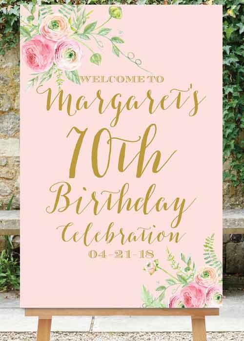 milestone birthday welcome sign