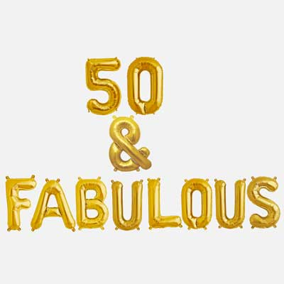 Fifty & Fabulous Balloons