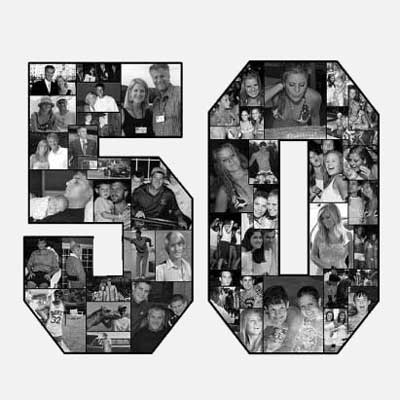50th birthday photo collage
