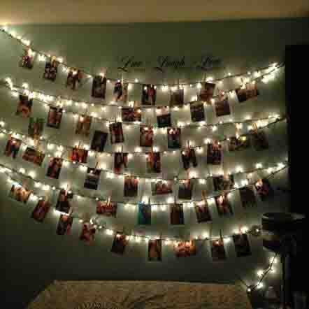 photo string light garland party decorations