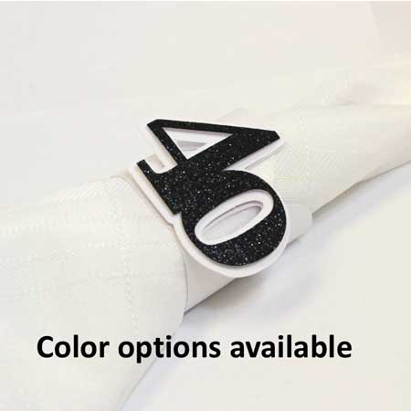 50th birthday napkin rings
