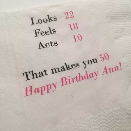 50th birthday party napkins