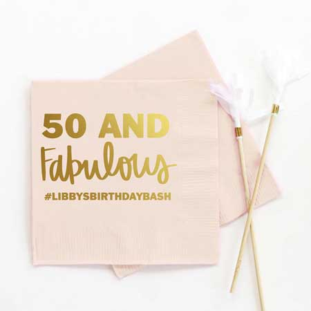 50 is the new 30 party napkins