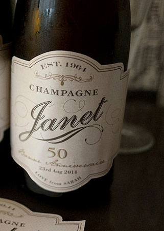 personalized champagne labels