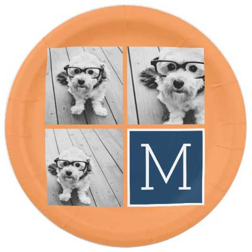 personalized photo collage birthday party paper plates