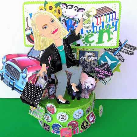 50th birthday cartoon figure cake topper
