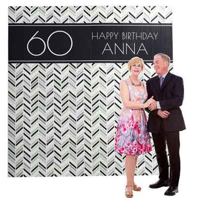 milestone birthday photo booth backdrop