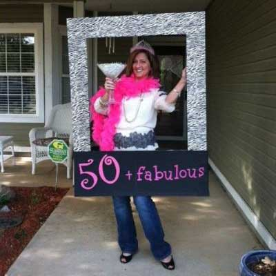50 And Fabulous Photo Booth Prop