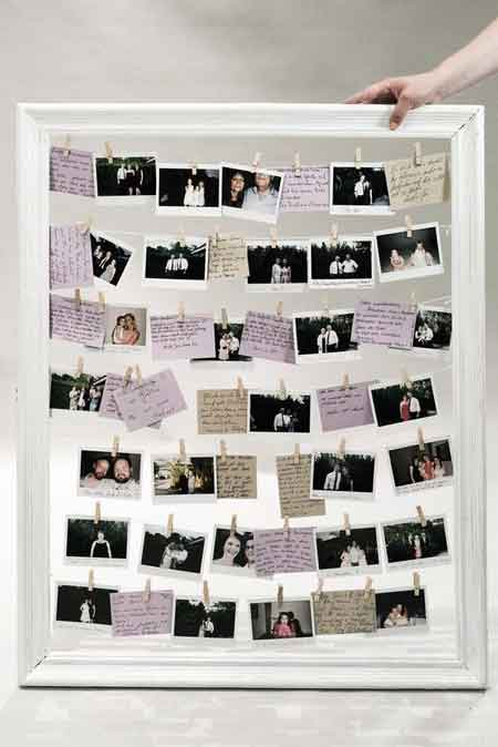 polaroid guest photos display