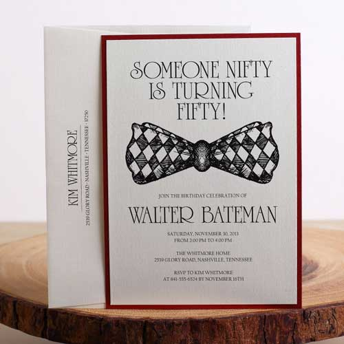 bowtie invitation