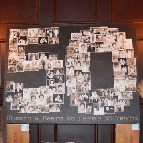 50th birthday photo collage