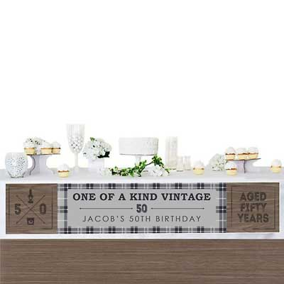 Aged to Perfection 50th birthday banner