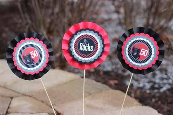50 Rocks party decorations