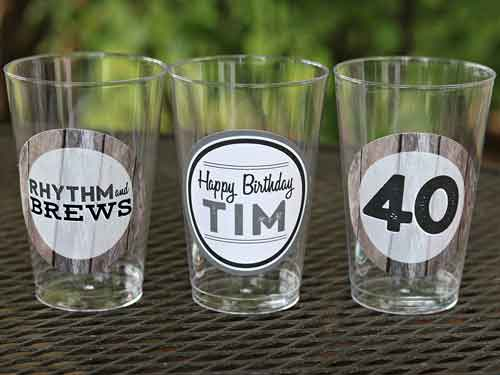 Rhythm and Brews party cups