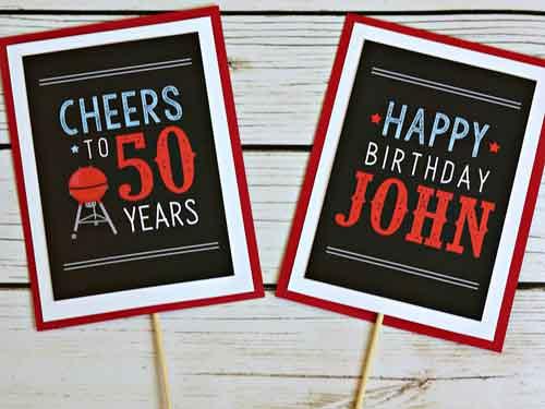 BBQ theme milestone birthday party decorations