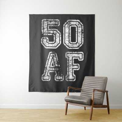 50 AF backdrop wall tapestry