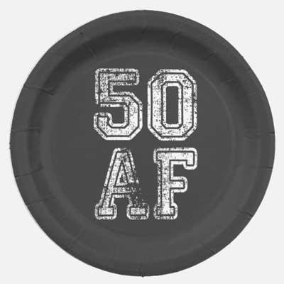 50 AF party plates