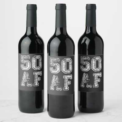 50 AF wine bottle labels
