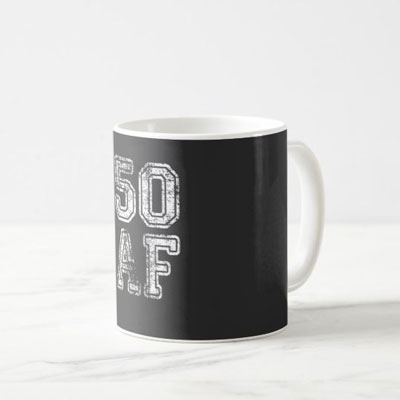 50 AF mug