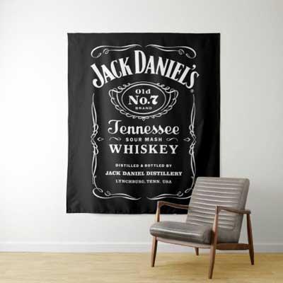 Jack Daniels backdrop wall tapestry