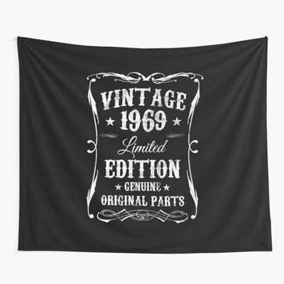 Jack Daniels style Aged Perfectly backdrop wall tapestry