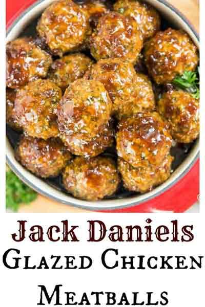 Jack Daniels glazed chicken meatballs