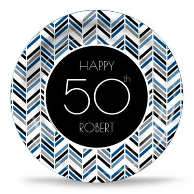 Best 50th Ever blue party plates