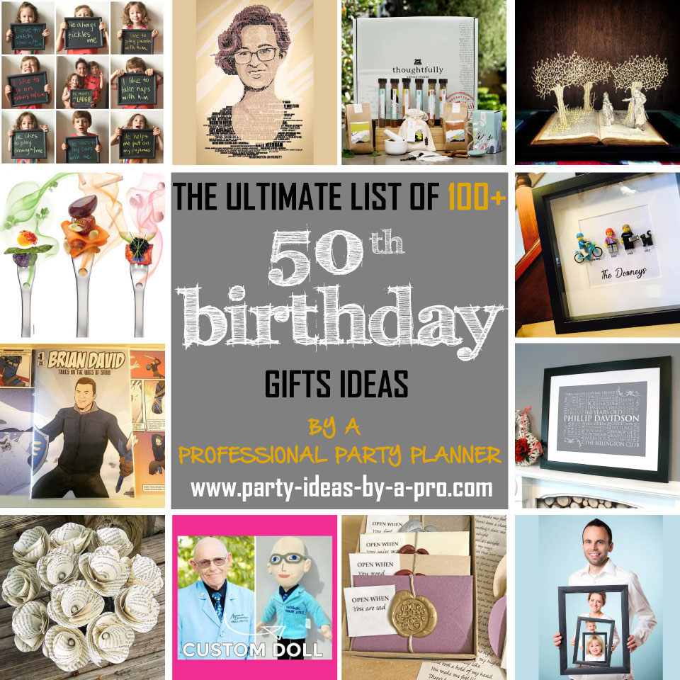 100 50th Birthday Gifts By A Professional Party Planner